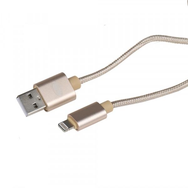 Premium Lightning USB Ladekabel gold 1m