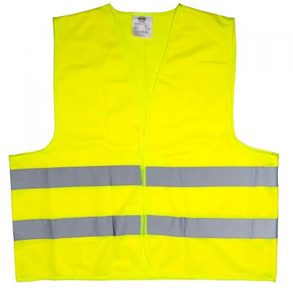 Premium Warnweste mit Zertifikat gelb XL