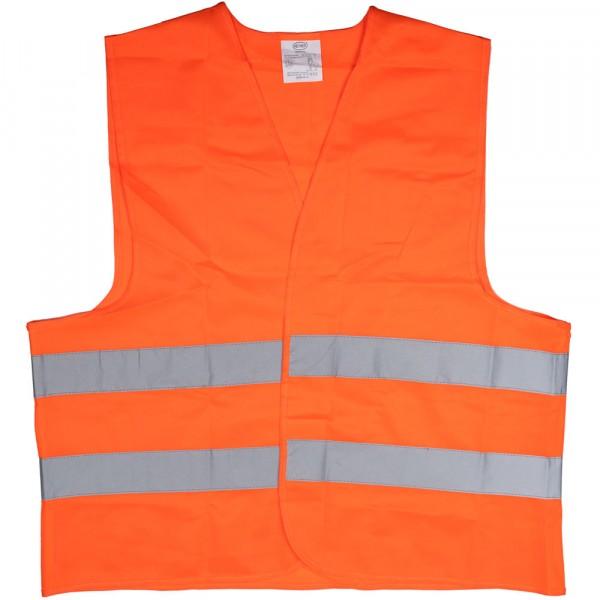 Premium Warnweste mit Zertifikat orange XL